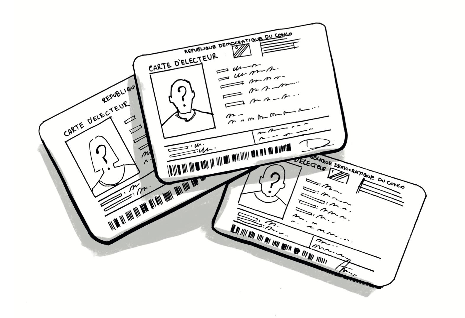 Illustration of voter card